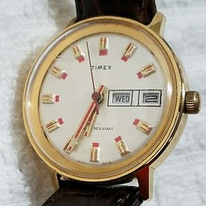 Vintage Timex Wind Up Gold Plated Watch